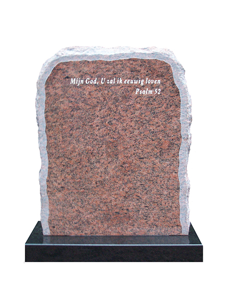 Algemene graf monument ruwe steen - Overkamp Gedenktekens