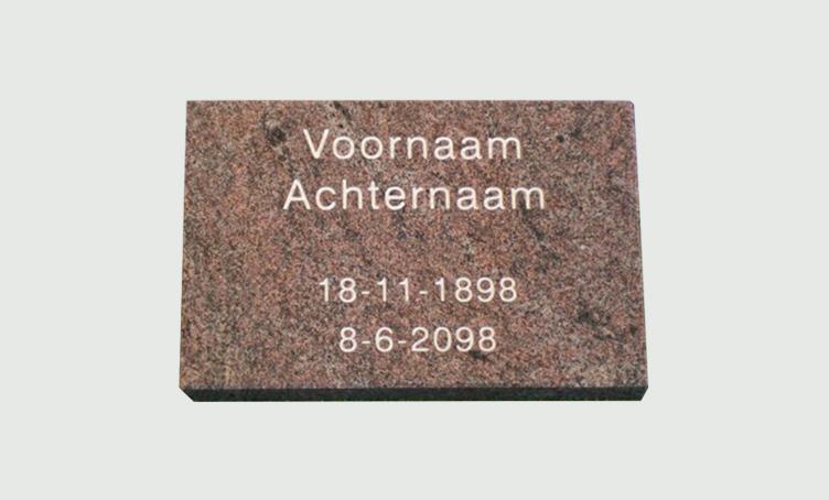 Tijdelijke gedenksteen - Overkamp Gedenktekens