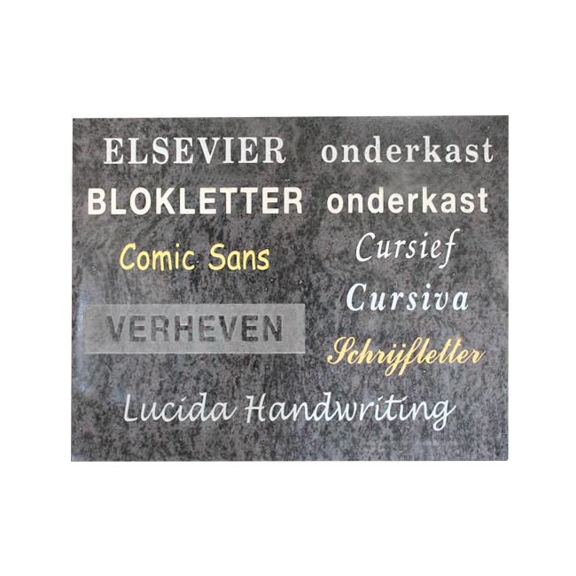 Gestraalde letters - Overkamp Gedenktekens